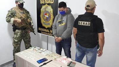 Un delivery de 'coca' fue detenido en Caaguazú