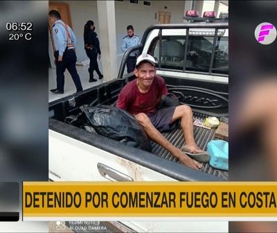 Detienen a reciclador por causar incendio en la Costanera de Asunción