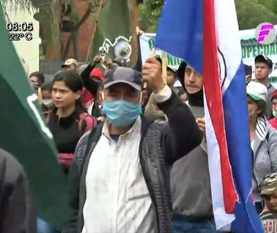 Movilización campesina en Asunción