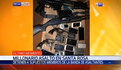 Capturan a sospechosos de millonario asalto en Santa Rosa
