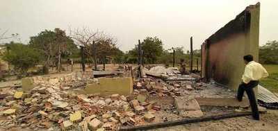 Horqueta: Familia queda en la calle tras incendio de vivienda
