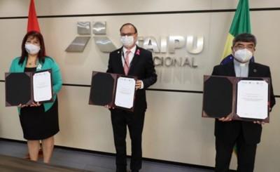 UNA y UC acuerdan firman histórico acuerdo con la Itaipu Binacional