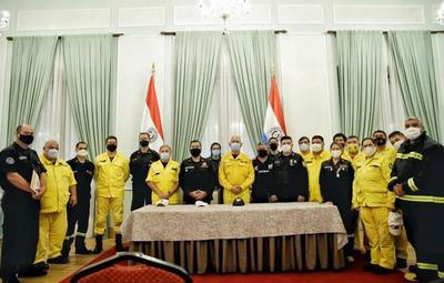 Donación de combustible por parte de Petropar a bomberos voluntarios