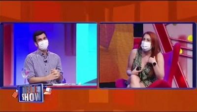 """Nathu fue increpada por rechazar invitación a """"TeleShow"""""""