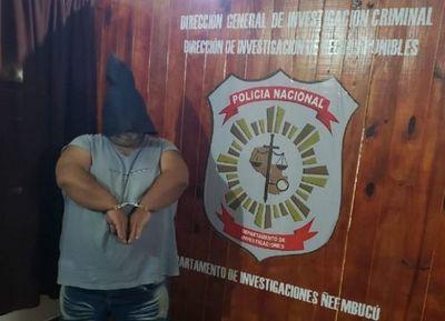 Detienen a presunto autor intelectual de sicariato en Pilar