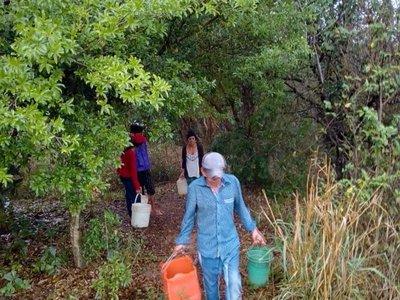 Dramática situación de familias por falta de agua en San Pedro del Paraná
