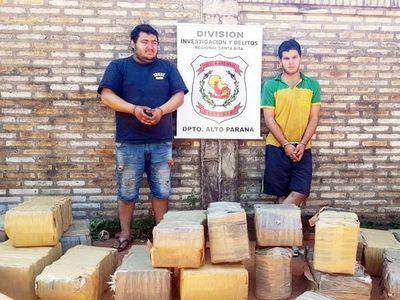 Condenan a dos fleteros que transportaban 1.106 kilos de marihuana