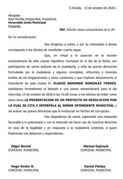 Junta Municipal de Coronel Oviedo llama a nueva sesión extraordinaria – Prensa 5
