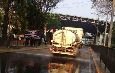 Realizan desinfección en el Puente de la Amistad para su reapertura