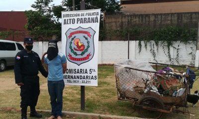 Recolector de residuos cae detenido cuando pretendía vaciar un comercio – Diario TNPRESS