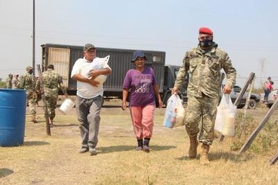 Pdte. Hayes: Asisten con agua y víveres a pobladores