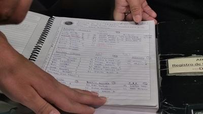 Hallan cuaderno con nombre de legisladores en hangar de Areguá