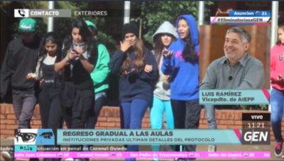 HOY / Luis Ramírez, vicepresidente de Instituciones Privadas del Paraguay, sobre protocolo para la vuelta a clases