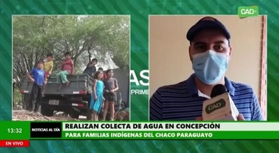Concepción: Realizan colecta de agua para familias del Chaco