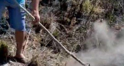 Foco de calor despierta curiosidad entre pobladores de Guahory