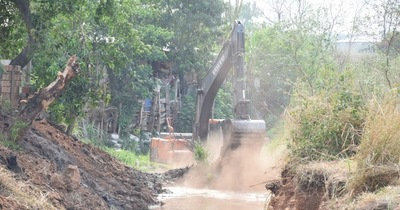 A pedido de vecinos limpian arroyo Tayazuape