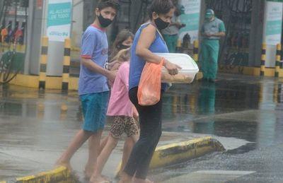 Llegó la esperada lluvia y trajo alivio a varias áreas del territorio nacional