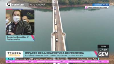 HOY / Roberto González Vaesken, gobernador de Alto Paraná, sobre la reapertura del Puente de la Amistad