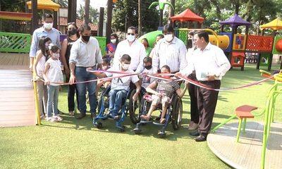 Roque Godoy inaugura el parque inclusivo más grande del país, en Presidente Franco – Diario TNPRESS