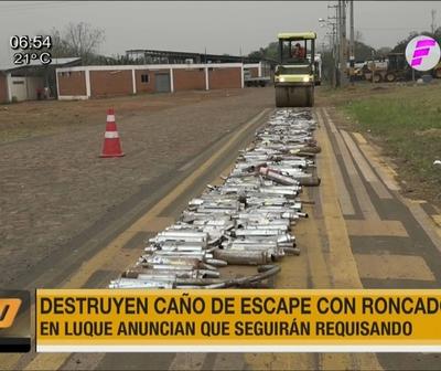 Destruyen roncadores por polución sonora en Luque