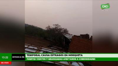Temporal causa estragos en Horqueta