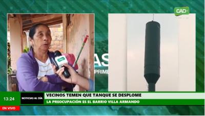 Concepción: Vecinos temen que tanque-antena se desplome