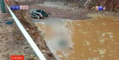 Paraguarí: Motociclista cayó a una zanja con agua y murió ahogado