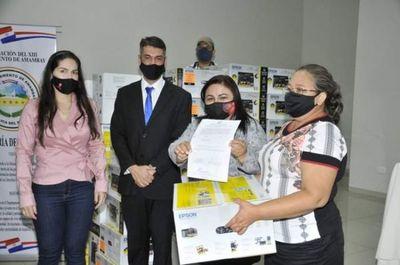 Gobernación entregó equipos informáticos a instituciones educativas