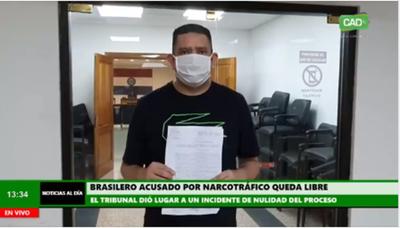 Brasileño acusado por microtráfico recupera su libertad