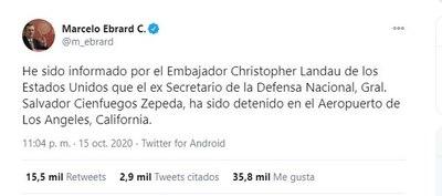 EE.UU. acusa de narcotráfico a ministro de Defensa de Peña Nieto, según medios