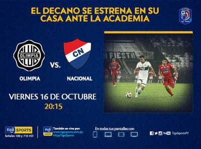 Olimpia debuta en el Clausura jugando de local