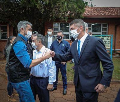 Marito inaugura pabellón de contingencia en el hospital de Pedro Juan Caballero