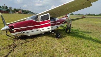 Ministra de Justicia sufre percance aéreo