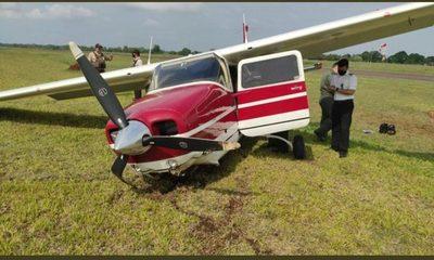 Avioneta de ministra de Justicia sufrió un accidente, no hay  víctimas que lamentar