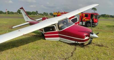 Ministra de Justicia sufre percance en aterrizaje de avioneta