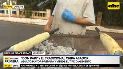 """Don Papi"" y el tradicional chipa asador en Lambaré"