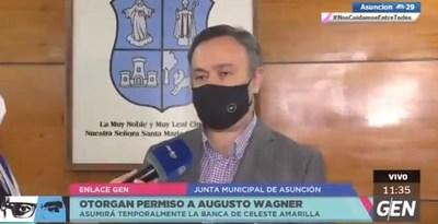 Junta Municipal concede permiso a Wagner pero artículo constitucional genera dudas