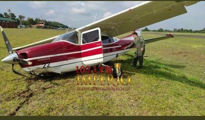 Aeronave que transportaba a Ministra de Justicia sufrió un percance en el aeródromo de Itaipú