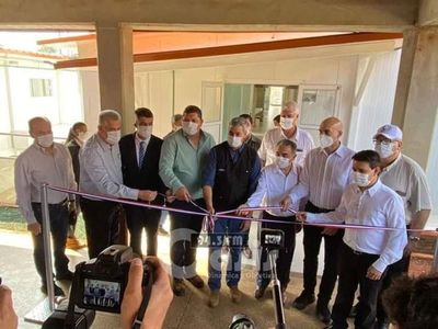 Inauguran pabellón de contingencia para casos Covid-19 en Pedro Juan