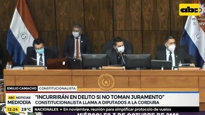 """Alliana incurrirá en delito si no toma juramento a Wagner"", según constitucionalista"