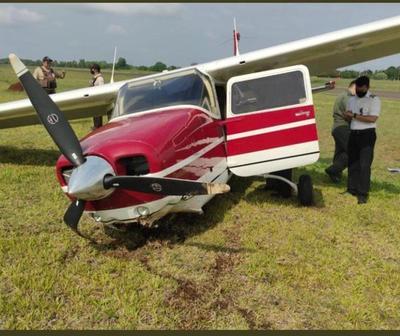Avioneta que transportaba a ministra de Justicia sufrió percance aéreo