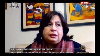Senadora denuncia campaña de agresiones y mentiras contra el frente Guasú