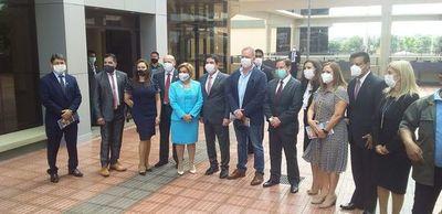 Acusados por corrupción, en inauguración del Palacio de Justicia de CDE