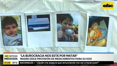 Madre exige provisión de medicamentos para su hijo