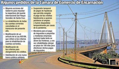 En Encarnación exigen que también se reabra la frontera con Argentina