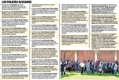Acusación revela esquema de trabajo conjunto entre narcos y los policías