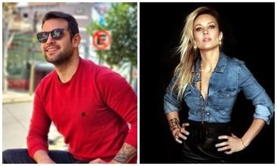 Oscar Pintos cantó con la cantante Fey