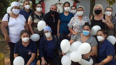 Emotiva despedida de enfermera fallecida por covid-19 en San Lorenzo