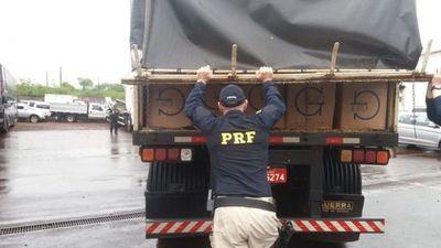 Incautan cigarrillos paraguayos de contrabando en Brasil