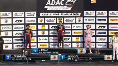 Joshua Duerksen se sube a podio de la Formula 4